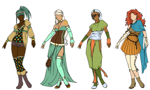 Elementals designs by Owl-in-a-box