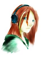 headphone girl by Ithilean