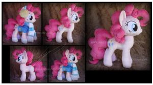 Commission: Winter Wrap-up Pinkie Pie Custom Plush by Nazegoreng