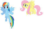 Rainbow Dash and Fluttershy by linksfanponies