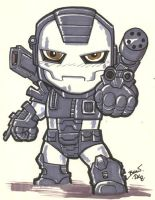 Chibi-War Machine. by hedbonstudios