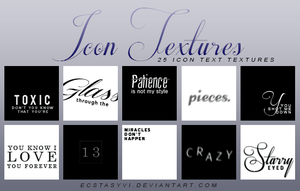 25 Icon Textures: Text by ecstasyvi