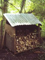 DIY Re-Cycled Wood Shelter by darkhoodness