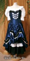 TARDIS corset dress by Stahlrose