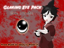 MMD Eyes: Glaring Eye Pack DL by YuukiHotaru