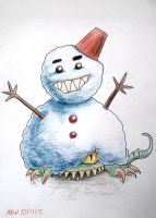 Snowman Eater by AlexRose312
