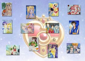 Sailor Moon Cards by Eiki331