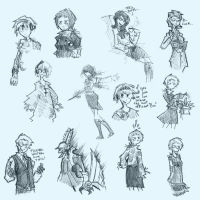 Persona 3 sketchpage by VanRipper