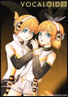 Kagamine Rin And Len Append by MiLe-08