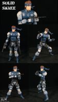 Solid Snake's on the move by Jin-Saotome