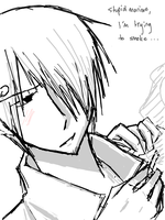 Sanji + His Cigarettes Oekaki by Tigris-Lilium