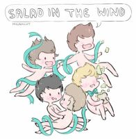 Salad in the wind~ by milamint