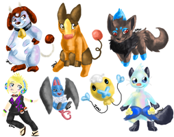pokemon doodles by FrostWarden
