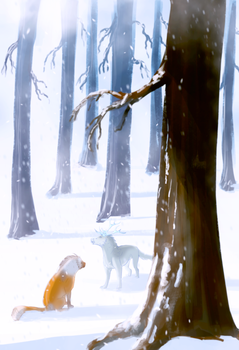 Call of the Winter King: In the Trees 4/5 by The-Snalf