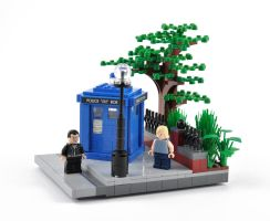 LEGO TARDIS Outside by Xenomurph