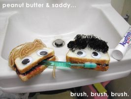 sandwich brushing fun by ilovegravy