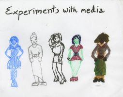Fashion design Experiments with media by Poorartman