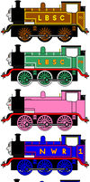 Diffent Colors and Shape of Thomas by sodormatchmaker