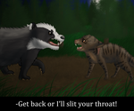 Bramblestar's Storm: Badger Fight by beIIossom
