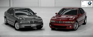 BMW E39 540i and M5 by Schaefft