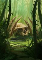 Jungle Skull Speedpaint by JordyLakiere