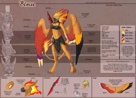 Blaise - Character Sheet Commission by Ulario