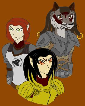 Elder Scrolls Women by dragongirl117