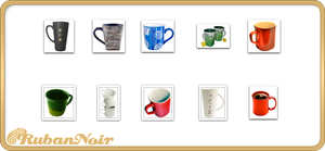 ImagePack 09 - Mugs by Lady-Himiko