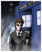 The Doctor and TARDIS by RightHandOfDoom