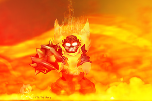 Auezun The Lil' Ragnaros by KirliaTheEmotionWolf
