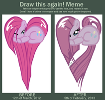 Draw This Again Meme: Pinkamena Heart by MissiTofu