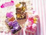 Melty Chocolate and Fluffy Pink iPhone 4/4S Cases by kpossibles
