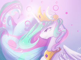 Princess Celestia by Aunmoon