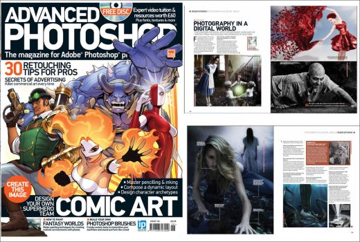 My interview in Advanced Photoshop Magazine  #126 by ArthurRamsey