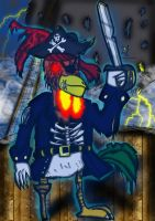 Captain Feathers:Ghost Pirate by Luke-the-F0x