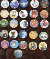 Buttons, Round OneDollar Sale by Starrydance