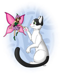 The Cat and the Fairy by DarkRavenofChaos