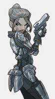 generic future soldier girl by jimmymcwicked