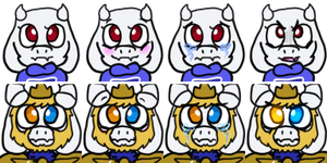 Toriel and Asgore Faces by Cosmic-Eevee
