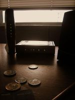 Coins on desk by hooni