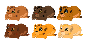 Adoptable newborn cubs 8 CLOSED by AlbinoWolf296