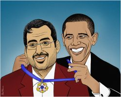 Al-Zaidi Awarded by Obama by BenHeine