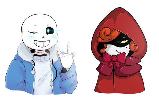 Sans and Red - Collab [UNDERTALE] by Casadee