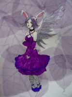 Purple Bunny by chaosqueen122