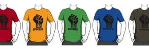 Peaceful Protest T-Shirts by naesk