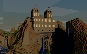 Minecraft Castle 3d render by MHalse