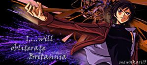 Lelouch Lamperouge Signature by KonariWilliams