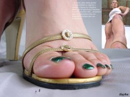 Giantess Collages - Micro men at her feet by ilayhu2