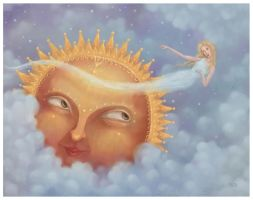 Venus and the sun by pesare