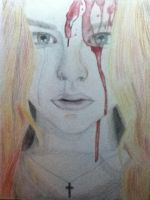 Chloe Grace Moretz as Carrie by WelcomeToCrystalLake